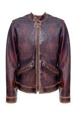 Здравствуйте!Куртка DOLCE & GABBANA из натуральной толстой кожи со специальным небольшим эффектом состаренности.