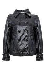 Здравствуйте!Куртка VICTORIA COUTURE изготовлена из экокожи(не натуральная).