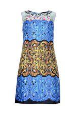 Добрый день!Длина по спине интересующего вас платья LETICIA MILANO - 85 см.С уважением, служба поддержки клиентов JUSTMODA.