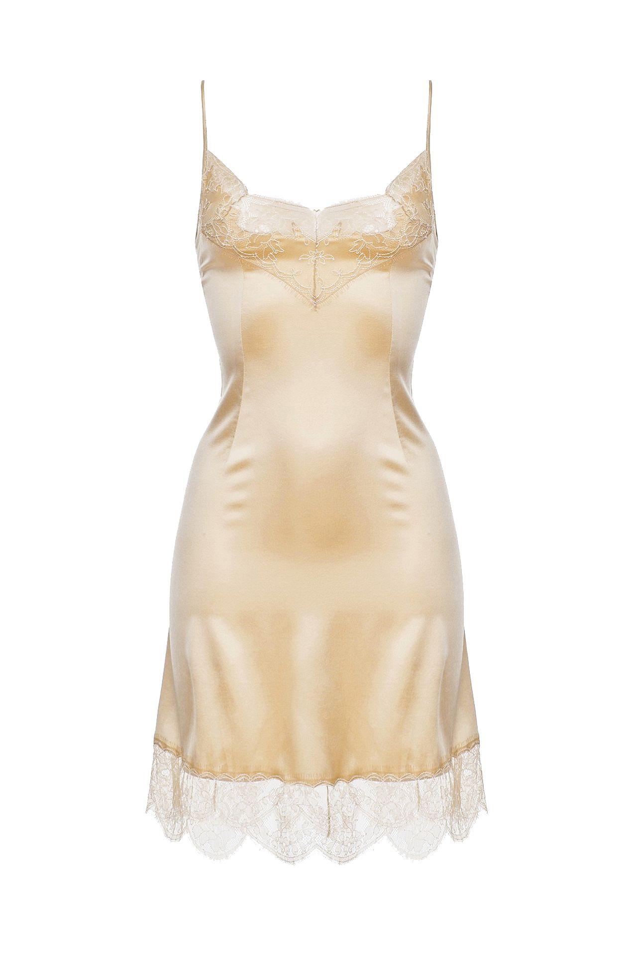 Комбинация бежевая под платье купить