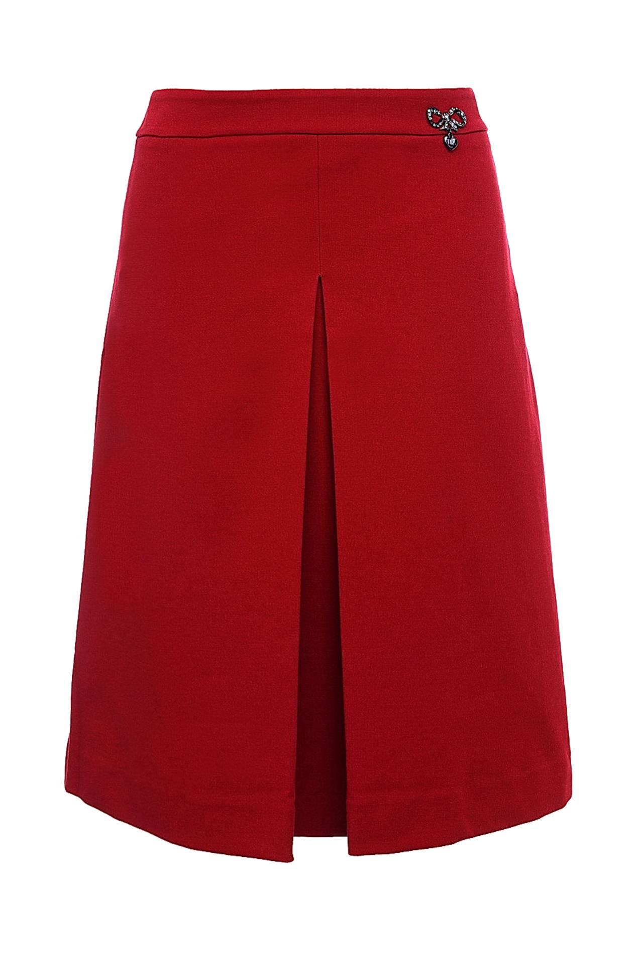 Как сшить юбку с одной складкой